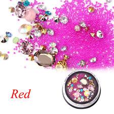 Fashion Nail Art Rhinestones Glitter Diamonds Tips Mixed 3D Tips DIY Decoration