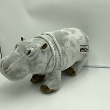 "Walt Disney World Animal Kingdom Plush Hippo Hippopotamus 15"" Stuffed Animal"