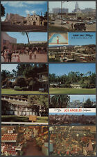 Los Angeles CA: Ten c.1950s Postcards SCENERY, STREETS, MARKETS, BUILDINGS +++