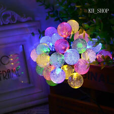 Outdoor Decor String Rope Waterproof Solar Power Lights 5M 30 LED Crystal Ball