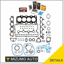 Fit Full Gasket Set Bearings Piston Rings Fit 99-05 Kia Hyundai 2.4 DOHC G4JS