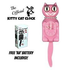 "Rosa Miss Gatito Reloj (3/4 Talla) 12.75"" Gratis Batería Eeuu Hecho Kit-Cat"