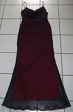 Abendkleid Gr. XS 34 36 Party Ball Kleid SCHWARZ ROT Gothic Vampir FASCHING