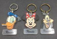 Walt Disney Co. Vintage Set Of 3 Disney Keychains Donald Duck Minnie Mouse Goofy