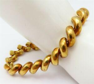 "18K Yellow Gold ~8MM Wide San Marco Link Bracelet 7.25"""
