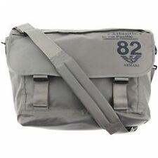 BNWT GIORGIO ARMANI Junior Gray Messenger Handbag Bag & Dustbag ITALY $195