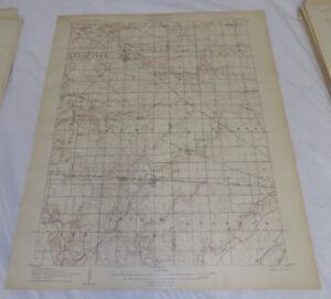 1906 Topographic Map SYCAMORE QUADRANGLE/WYANDOT/CRAWFORD CO., OHIO