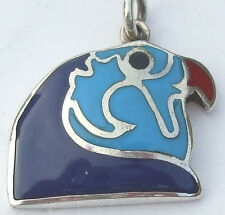 Horus Silver Pendant inlaid with Turquoise, Lapis, Coral (Hallmarked)