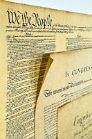 3 Historical Posters-Bill of Rights,US Constitution, Declaration of Independence