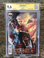 CAPTAIN MARVEL #1 WALMART VARIANT COVER CGC 9.6 SS SIGNED BY ARTGERM