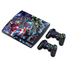 Avengers Marvel Skin Sticker Wrap PS3 SLIM PlayStation Decal Console Controller