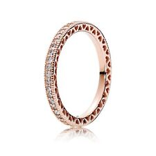 Authentic Hearts of Pandora Rose Gold Ring Size 7
