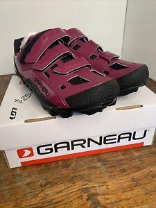 Louis Garneau Women's Sapphire Mountain Biking Shoes 10 US, 42 EU Purple new.