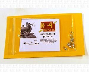 K4 HO Parts 2.7 Mm 0.11 Inch Marker Lamp Headlight Crystal Clear Jewel Lenses