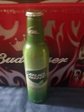1 BUD LIGHT LIME CANADIAN ALUMINUM BEER BOTTLE CAN ALU BY BUDWEISER #501739 NICE
