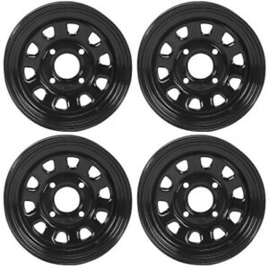 4 ATV/UTV Wheels Set 12in ITP Delta Steel Black 4/110 5+2/2+5 SRA