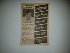 Enos Slaughter 1953 Prestone Anti-Freeze Advertisement VERY RARE!