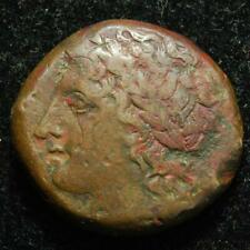 Hiketas (288-279BC) AE22 Syracuse, Sicily, obv. Zeus Hellanios / rev. eagle