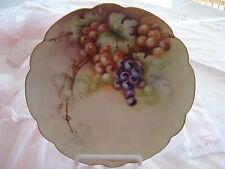 Bavaria Hand Painted Fruit Plate~ Grapes