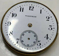 Waltham Grade 160 Pocket Watch Movement 0s 7j Model 1907 hunter Swiss Dial F3326