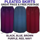 Black Red Pleated Skirt For The Older Women. Ladies New Vintage Old Style Skirts