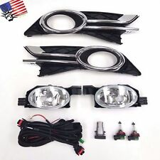 For 2014-2017 Honda Odyssey Switch Bulb Bezel Clear Lens Fog Driving Light Kit