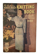 Australian Womens Weekly Knitting Book 1949 Family Vintage Knit Patterns