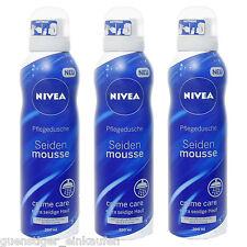 (19,38€/L) 6x 200ml Nivea Seiden Mousse Creme Care Pflegedusche Nivea Creme