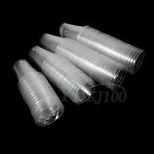 New 100x Clear Plastic Disposable Drink Cups Bulk For Water Tea Juice Beer Milk
