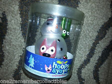 HALLMARK Keepsake HOOPS AND YOYO Snowman SNOW BUDDIES Glass CHRISTMAS ORNAMENT