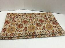 """POTTERY BARN TABLE RUNNER Rust Gold Cream FLORAL 90"""" X 18"""""""