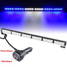 "27"" 24 LED Emergency Flash Strobe Light Bar Warning fit for car Blue+White+Blue"