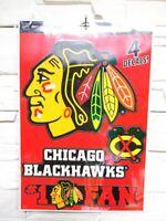 Chicago Blackhawks 4 Aufkleber Decal Badges Set NHL Eishockey Neu