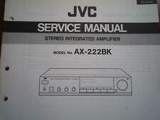 JVC AX-222BK AMPLIFICATORE servizio manuale parti di Cablaggio Diagramma di Manutenzione Riparazione