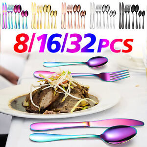 Safe-Knives Forks Spoons Placemats Cutlery Dishwasher Sets For Home Travel Party