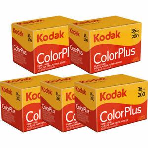 5 Rolls Kodak Color Plus 200 Color Negative Print Film 35mm 36 Exp 2023