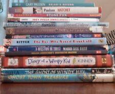 Lot of 13 ya youth novels, boys interest, Paulsen, Kinney, Ritter, Baseball, Out