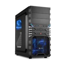 Sharkoon Vg4-w Midi-tower negro azul carcasa de ordenador