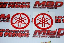 Yamaha Red Metal Flake Vinyl Sticker Decal Motorcycle WSB Moto gp x 2