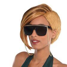 Hip Hop Sunglasses Gold Chain Gangster Rapper Celebrity Fancy Dress Accessory