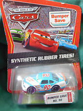 """Disney WORLD OF Cars Exclusive """"BUMPER SAVE""""  NO. 90 Synthetic Rubber Tires 2009"""
