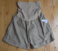 NWT Oh Baby by Motherhood tan/beige maternity shorts (S) cotton/spandex MSRP $40