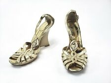 BABY PHAT STRAP WEDGE HEELS - GOLD Size: 6B Upper Material Leather