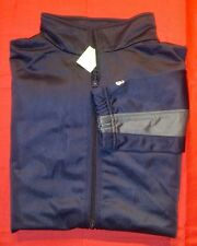 New NWT ! Badger Sport Ladies sz S navy blue & gray full zip Track Jacket.