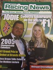 BRITISH RACING NEWS MAGAZINE #270 FEB 2005 JODIE SILVERWARE F1 ROSS BRAWN SAFETY