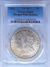 1921 Silver Morgan Dollar PCGS MS 63 Vam Wide Reeds Mint Error Top 100 Coin