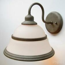 Silver Rust Wall Sconce Alabaster Glass Light Lighting Fixture Forecast F1124-65