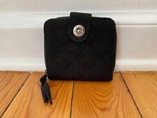Vera Bradley Black Microfiber Zip Around Wallet