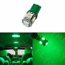 1x Green T10 168 194 2825 W5W 5 SMD LED Dome Map Cargo 1xM4