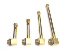 """Brass Oil Level Gauge - Brass Oil Level Indicator Brass Sight Glass 8"""" x 1/4 BSP"""
